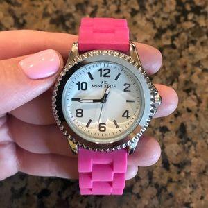 Pink Rubber Anne Klein Watch
